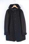 black embroidery coat